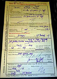Discharge certificate (courtesy of Newark & Sherwood District Council museums.)