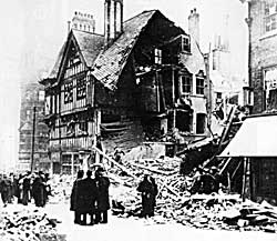 Friar Lane was bombed on the night of 8/9 May 1941.