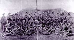 Men of the South Notts Hussars at Warrenton, South Africa.