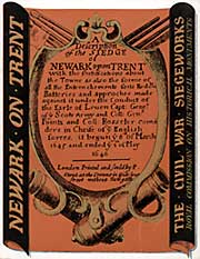 Cover of RCHM report on Newark siegeworks