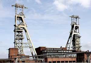 The headstocks at the former Clipstone Colliery in 2010.