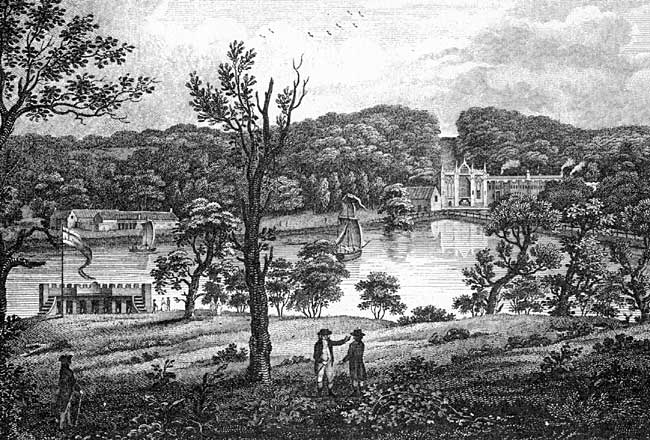 Engraving of Newstead in the 1790s.