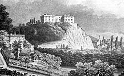 The Ducal Mansion of Nottingham Castle before the fire of 1831.