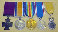 Sergeant Johnson's Victoria Cross and other medals