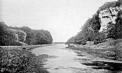 View of Creswell Crags, c.1908.
