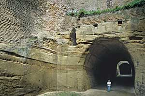 The Tunnel, originally excavated to take coaches-and-horses in both directions.