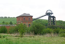 The industrial landscape: Bestwood Colliery (Photo: A Nicholson, 2004).