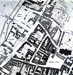 Extract of Wood's map of Newark published in 1829.