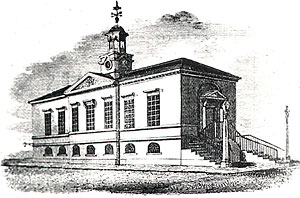 The old Town Hall in the 1820s.