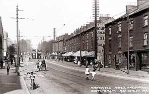Mansfield Road, Sherwood, c.1910.