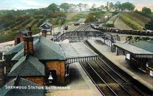 Sherwood Station, c.1910.