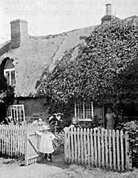 Cottage life in Clifton, c.1900.