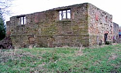 The remains of the late medieval Wansley Hall, near Selston (photo: A Nicholson, 2006).