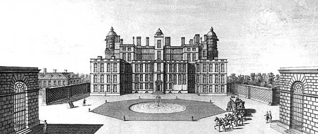 Worksop Manor, dating from the 1580s, as it appeared in the mid-18th century.