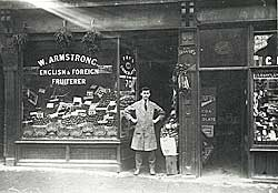 William Armstrong's fruit shop, 70 Sneinton Road, Nottingham, in the 1920s.