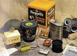 Tins produced during World War 2 (image courtest of CSP).