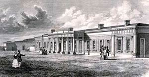 The second Midland Railway station at Nottingham built in 1848.