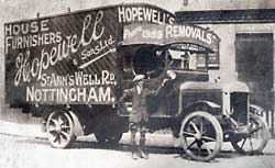 Hopewell's removal van, 1922.