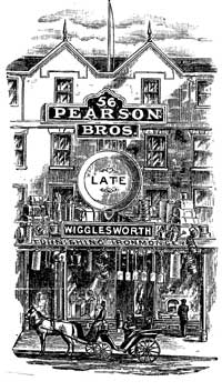 Pearson's first shop, c.1894.