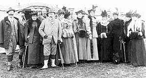 Royal shooting party at Welbeck Abbey, 1897.