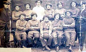 Jenkins Engineering Works, Retford, Ladies Football Team in 1917.
